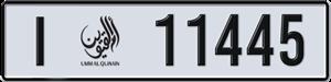 11445